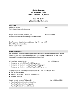 Appendix J - Sample CV for Faculty - BSN-EA