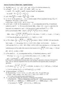 Answers Exercises L4 Basic Stats –Applied statistics The MSE's are