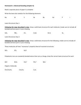 Lewis Structures Practice Worksheet