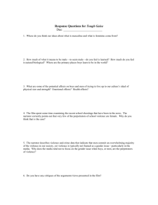 Response Questions for Tough Guise