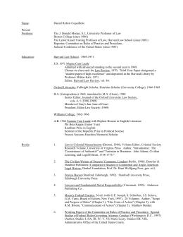 Resume - Harvard Law School