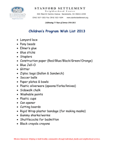 Children's Program Wish List