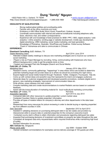 My Resume in Word document - Sandy Nguyen