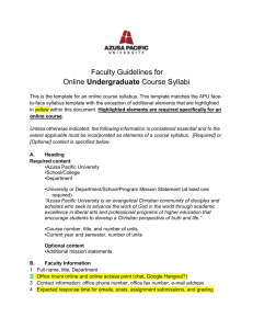 APU UNDERGRADUATE Course Syllabus Guidelinesx