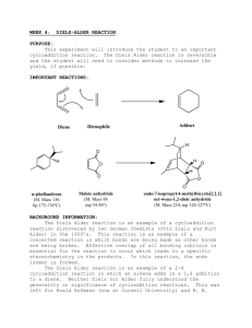 week 4: diels-alder reaction