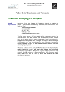 Policy Brief Guidance and Template