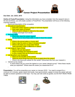 Career Research Poster Project & Presentation