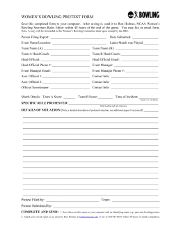 Protest Form 2012