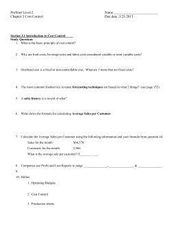 notes from summer teacher training collaboration year 1 rh studylib net FCS ProStart FCS ProStart