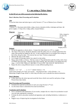 linear motion air track lab report