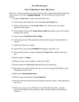 1920'-s Vocabulary Worksheet Collection for US History by Test Prep ...