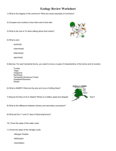Ecology Review Worksheet