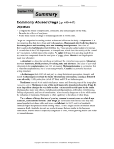 Commonly Abused Drugs (pp. 440–447) Objectives • Compare the