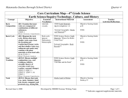 Fourth Grade Science Curriculum Guide At-a