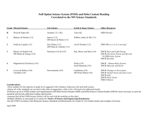 DRAFT of Full Option Science System (FOSS) Modules Correlated