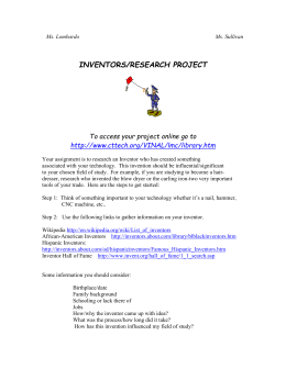 American Inventors/Research Project