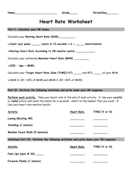 Worksheets Target Heart Rate Worksheet target heart rate worksheet activity belle vernon area school district