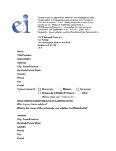 ESCI research application form