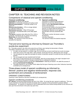 CHAPTER 16: TEACHING AND REVISION NOTES Comparisons of