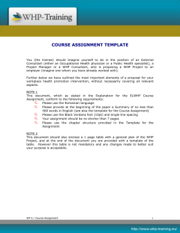 course assignment template
