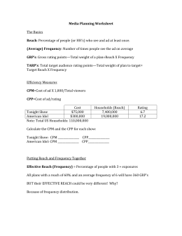 Media Planning Worksheet