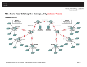 10.3.1: Packet Tracer Skills Integration Challenge Activity (Instructor