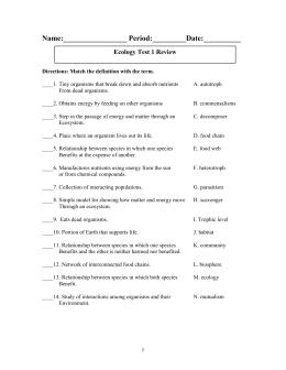 chapter 2 assessment worksheet in pdf format rh studylib net principles of ecology reinforcement and study guide answers chapter 2 principles of ecology study guide answer key