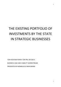 The existing portfolio of investments by the state in