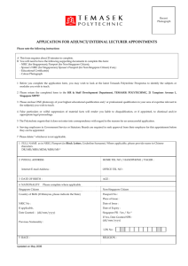 Application for Adjunct_External Lecturer Appointment