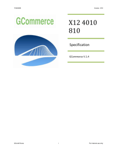 GCommerce 4010 810V1.4 - Automotive Aftermarket Suppliers