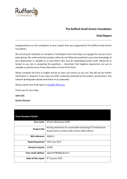 Final Report - The Rufford Foundation
