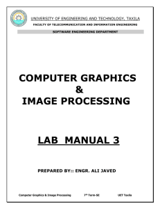 computer graphics - University of Engineering and Technology, Taxila
