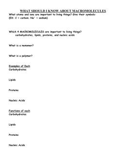 Section 2–3 Carbon Compounds (pages 44–48)