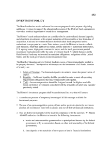 652: Investment Policy - Friess Lake School District