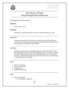 6.01 Aircraft Design and Construction