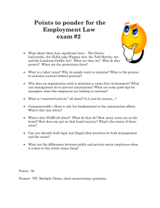 Points to ponder for the Employment Law exam #2 What about those