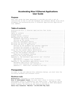 Accelerating Nios II Ethernet Applications User Guide