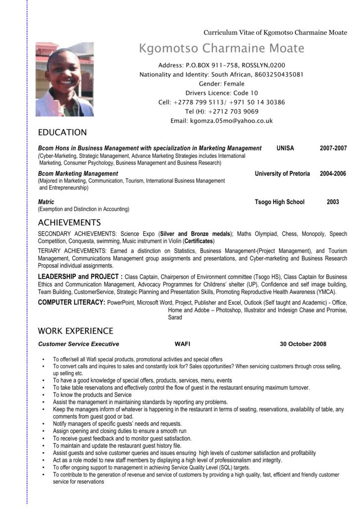 Curriculum Vitae Of John Doe