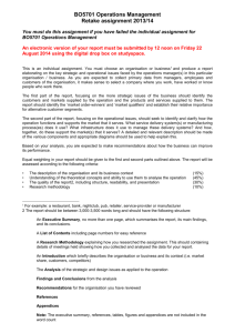 BO5701 Operations Management Retake assignment 2013/14 You