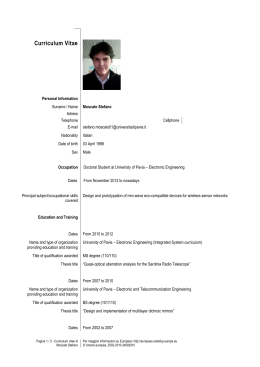 europass cv - Europass Curriculum Vitae