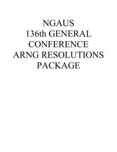 NGAUS 136th GENERAL CONFERENCE ARNG RESOLUTIONS