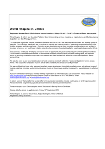 Clinical Services Manager - Wirral Hospice St John's