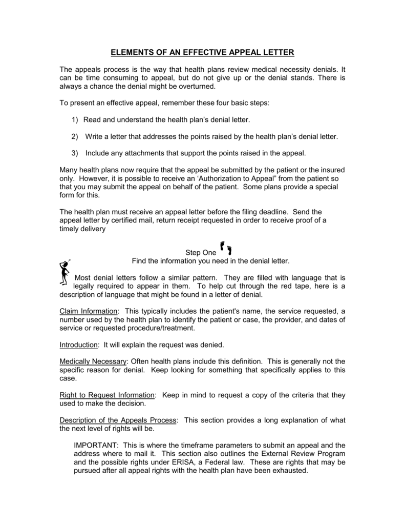 Health Insurance Appeal Letter Template - Health Tips ...