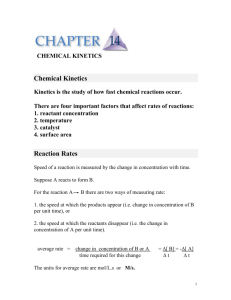 CHAPTER 14. CHEMICAL KINETICS