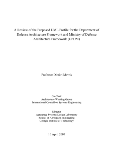 A Review of the Proposed UML Profile for the Department of