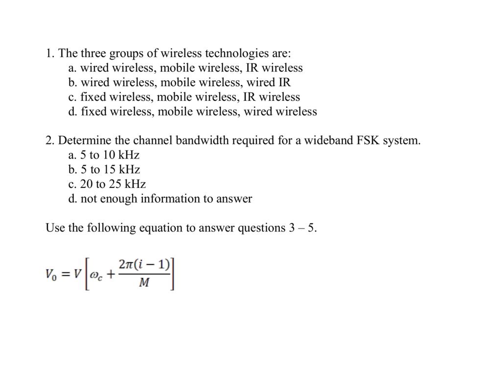Bandwidth Of Fsk