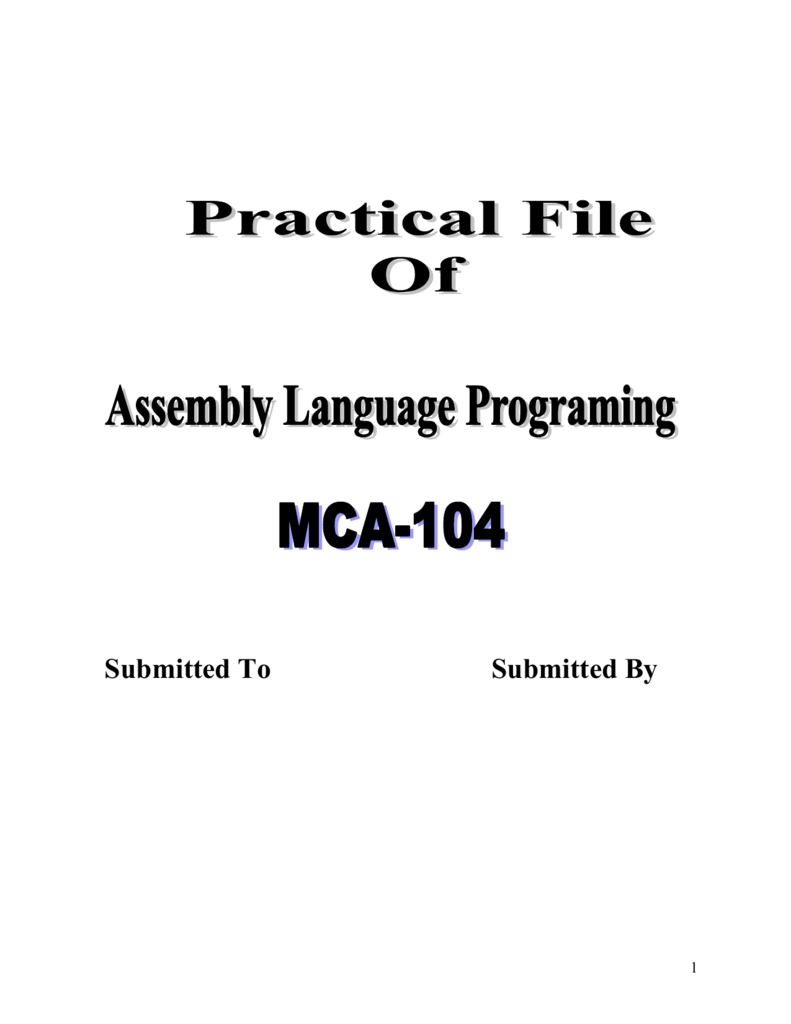 write an assembly language program to print a message