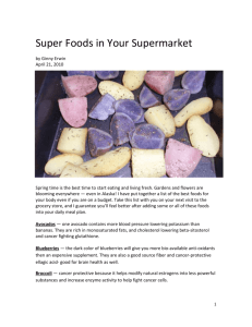 Super Foods in Your Supermarket