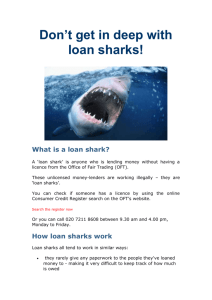 Don't get in deep with loan sharks
