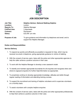 job description - Suzy Lamplugh Trust